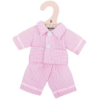 Bigjigs Toys Pink Striped Rag Doll Pyjamas for 28cm Soft Doll