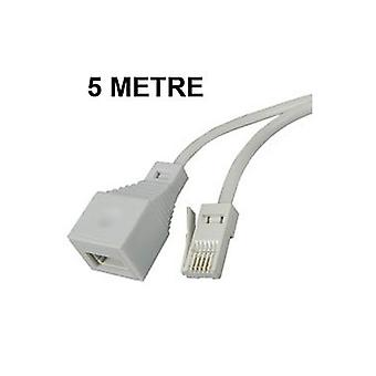 Telephone extension leads 3, 5, 10, 15 or 20 Metre cable for BT type sockets