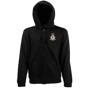 Spadeadam RAF Station Embroidered Logo - Official Royal Air Force Zipped Hoodie Jacket