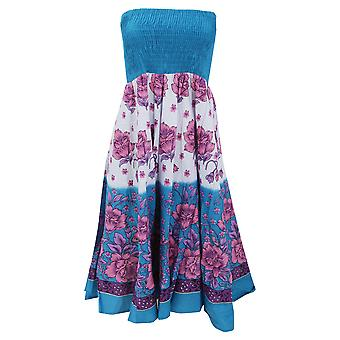 Dame/damer blomstermotiver udskrive 2 In 1 bomuld Dress