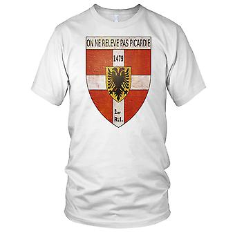Insigne 1Er R_giment D'Infanterie French Armee Clean Effect Ladies T Shirt