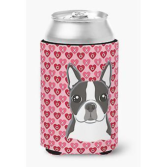 Carolines Schätze BB5273CC Boston Terrier Herzen Dose oder Flasche Hugger