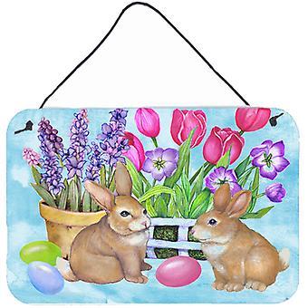 New Beginnings Easter Rabbit Wall or Door Hanging Prints