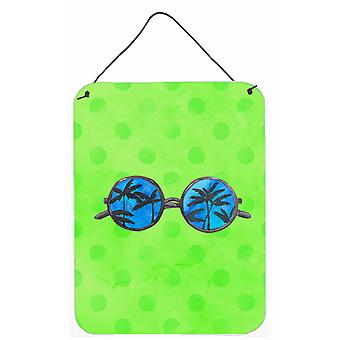 Sunglasses Green Polkadot Wall or Door Hanging Prints