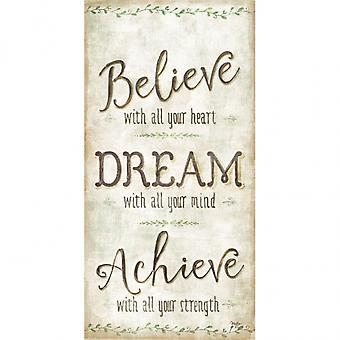 Rêve de croire atteindre Poster Print par Mollie B (9 x 18)