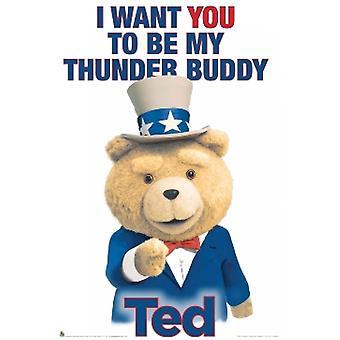 Ted Thunder kammerat plakat plakat Print