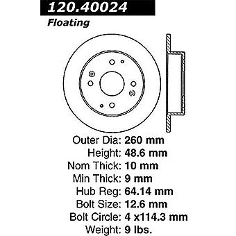 StopTech 128.40024R Sport Cross Drilled Brake Rotor (Rear Right), 1 Pack