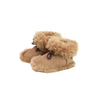 Eastern Counties Leather Baby Alex Sheepskin Lace Up Booties