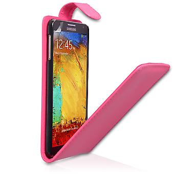 Samsung Galaxy Note 3 Leather-Effect Flip Case - Hot Pink