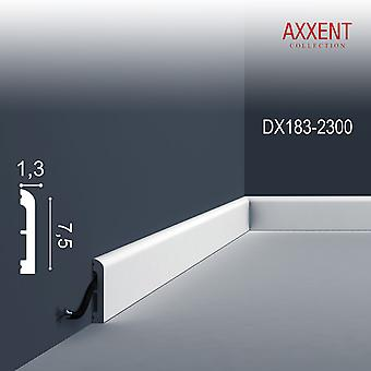Door surround ORAC decor DX183-2300 AXXENT CASCADE skirting board wall bar modern design white 2, 3 m