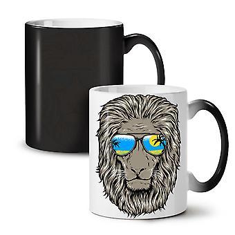 Lion Beach Sun NEW Black Colour Changing Tea Coffee Ceramic Mug 11 oz   Wellcoda