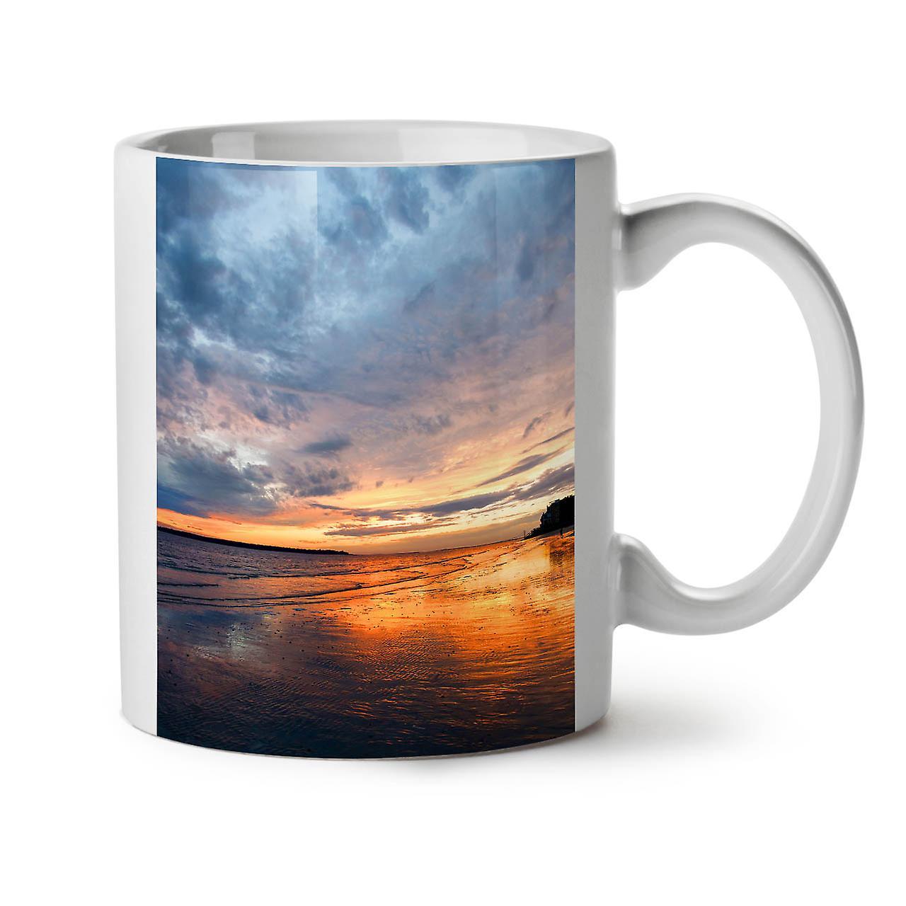 Sea OzWellcoda Nouveau 11 Thé Deep Café Tasse Sunset Blanc Céramique ulK3T5F1Jc