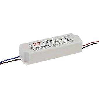 LED driver Constant current Mean Well LPC-20-350 16.8 W (max)