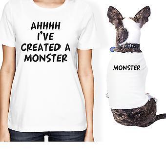 Erstellte ein Monster kleine Tierbesitzer passende Geschenk Outfits weiße Geschenke