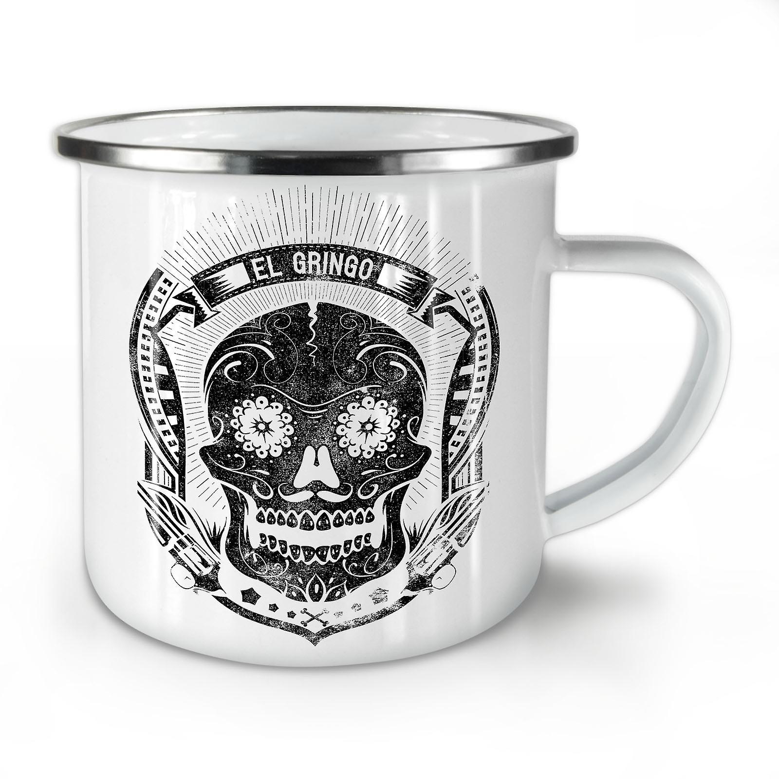 Émail Crâne Café Mexicain Whitetea Nouveau Mug10 OzWellcoda Mort A5L3qR4j