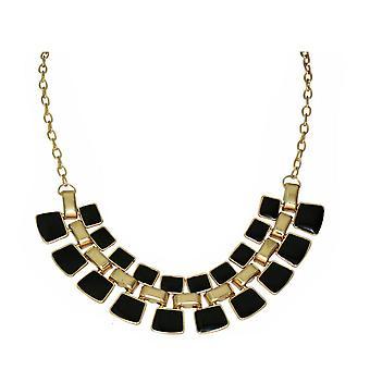 Mujeres moda collar brillante esmalte joyería oro