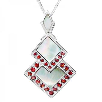 Shipton and Co Ladies Shipton And Co Exclusive Silver And Mother Of Pearl Pendant Including A 16 Silver Chain PQA402PMGR