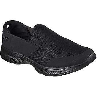 Skechers Mens GOwalk 4 Contain Cushioned Slip On Casual Trainers Shoes