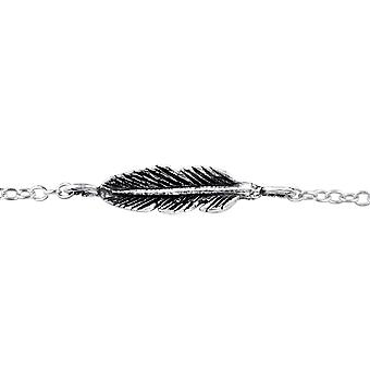 Feather - 925 Sterling Silver Chain Bracelets - W31525x