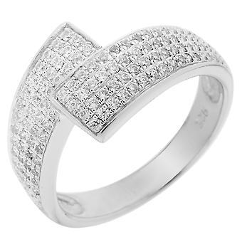 Orphelia plata 925 anillo Micro Pave ZR circonio-3510