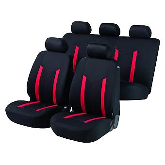 Hastings Car Seat Cover Black & Red For Audi A6 Avant 2005-2011