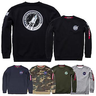 Alpha industries men's sweatshirt space shuttle