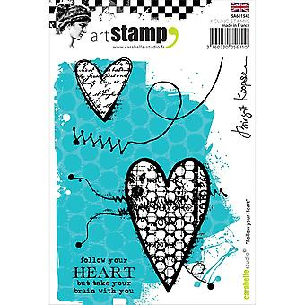 Carabelle Studio Cling Stamp A6-Follow Your Heart