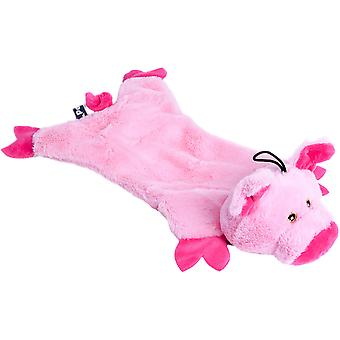 Petface Crinkle Flat Pig Dog Toy-