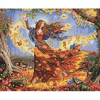 Gold Collection Fall Fairy Counted Cross Stitch Kit-14