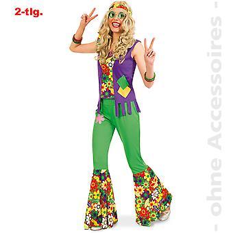 Disfraz de hippie años 60 traje energía de la flor flor de hijo de la mujer