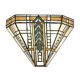 Wnętrza 1900 LLoyd Single lekki styl Tiffany ściany Fitti
