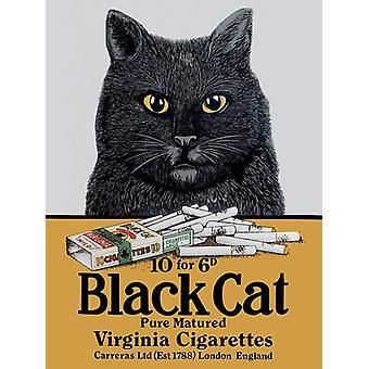 Black Cat Cigarettes Fridge Magnet
