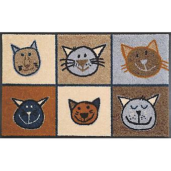 Miau Miau 50 x 75 lavado alfombra piso lavable de cm + secar