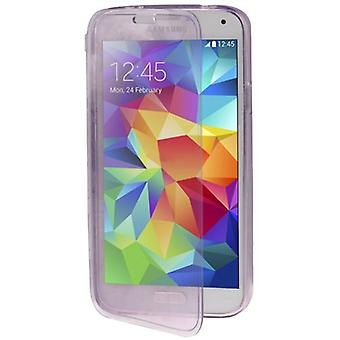 Flip Mobile Shell cross pour mobile Samsung Galaxy S5 / S5 neo pourpre / violet