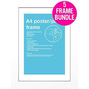 GB Posters 5 A4 branco MDF Poster Frames 21 x 29,7 cm Bundle