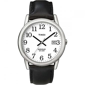Timex T2H281 Men's Easy Reader Watches with Date - Black/Silver