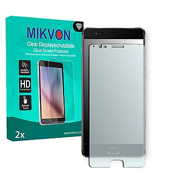 OnePlus 3 Screen Protector - Mikvon Clear (Retail Package with accessories) (intentionally smaller than the display due to its curved surface)