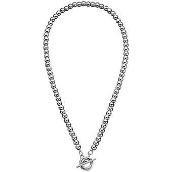 Beginnings Multi Bead T Bar Necklace - Silver