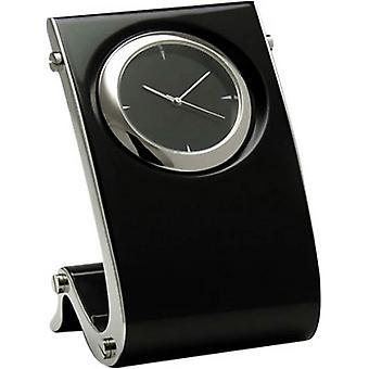 Orton West Gloss Finish Wave Design Clock - Black