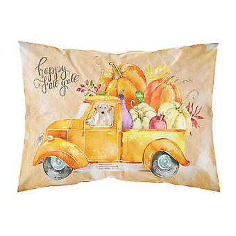 Fall Harvest Yellow Labrador Retriever Fabric Standard Pillowcase