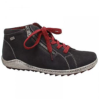 Remonte Side Zip And Lace Up Trainer