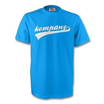Vincent Kompany hombre ciudad firma Tee (cielo azul) - niños