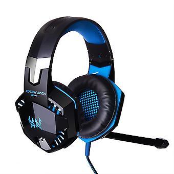 Kotion hver G2000 Gaming hovedtelefon med lydstyrke & LED-blå
