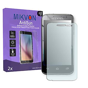 Alcatel One Touch M\'Pop 5020D Screen Protector - Mikvon AntiSun (Retail Package with accessories)