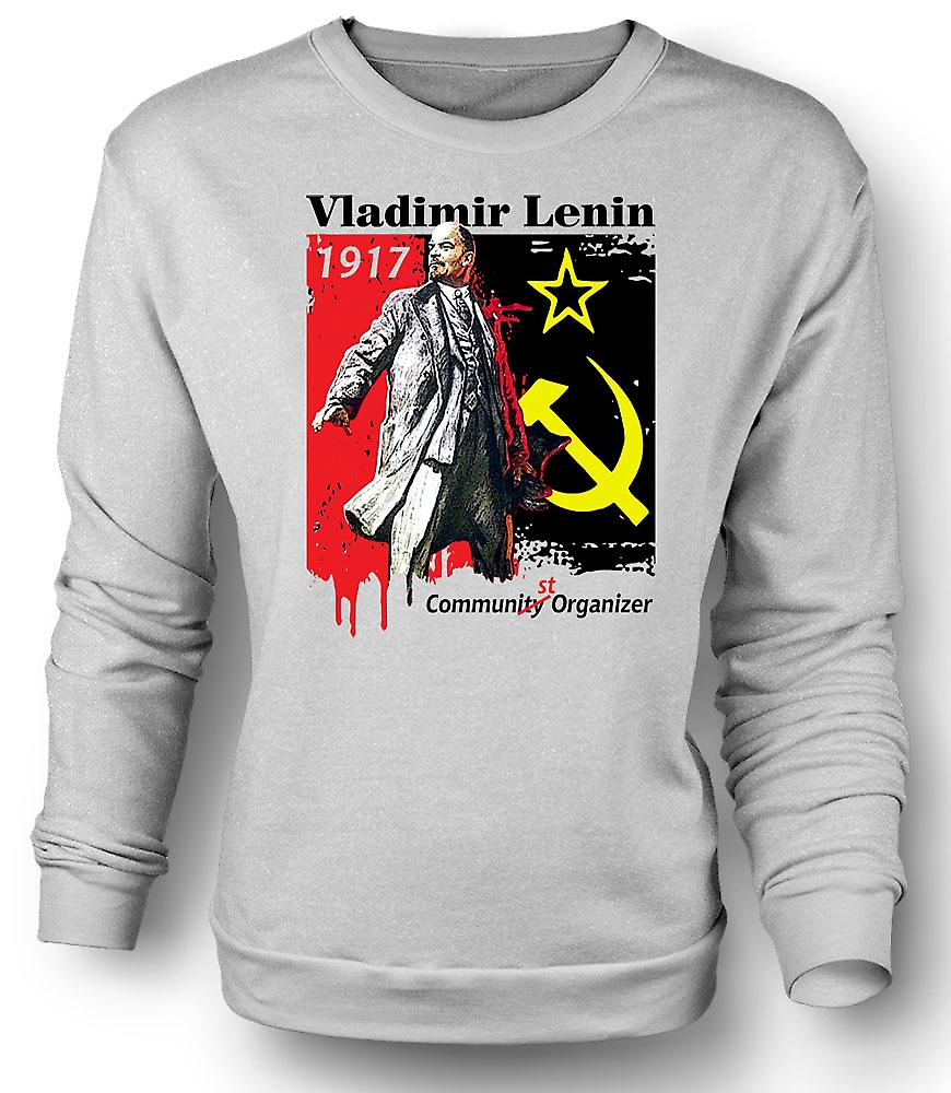Mens Sweatshirt Vladimir Lenin - Communist - Russia - Icon