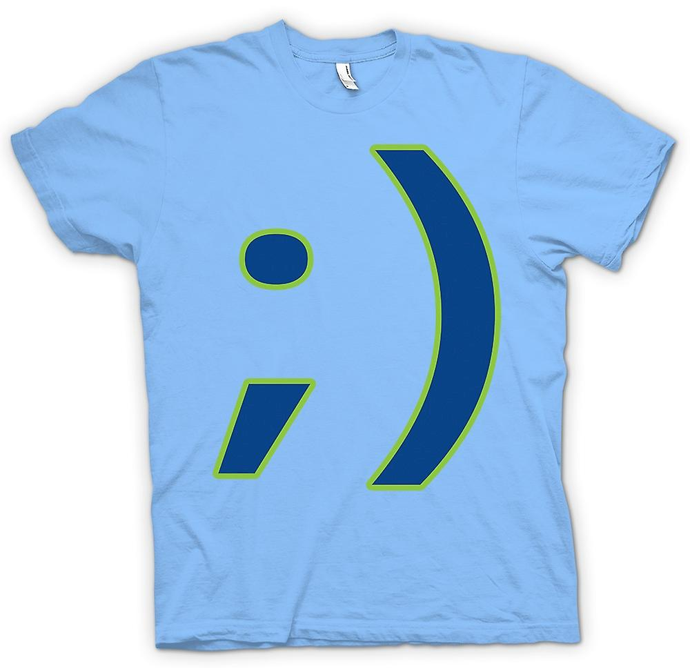 Divertida camiseta para hombre - Smiley-