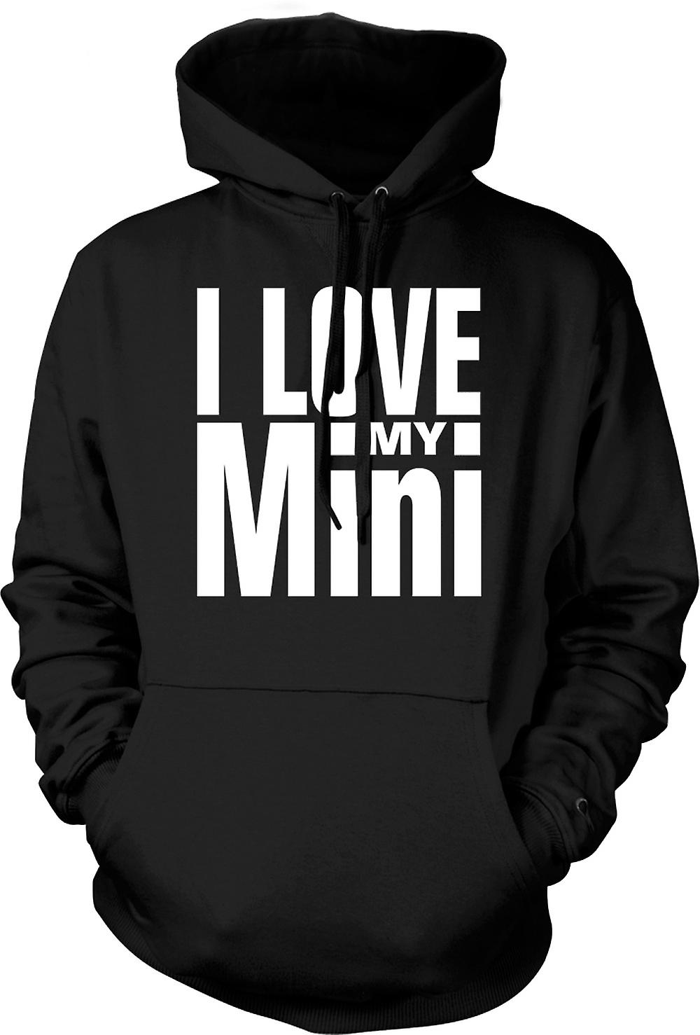 Kids Hoodie - I Love My Mini - Car Enthusiast