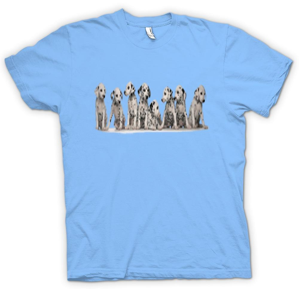 Mens T-shirt - Cute Dalmation Puppies