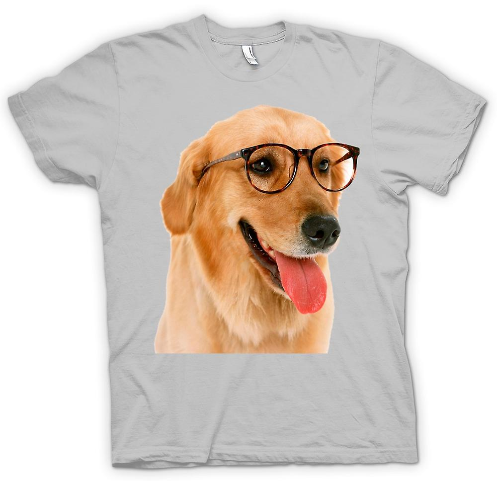 Mens T-shirt - Labrador With Glasses - Funny