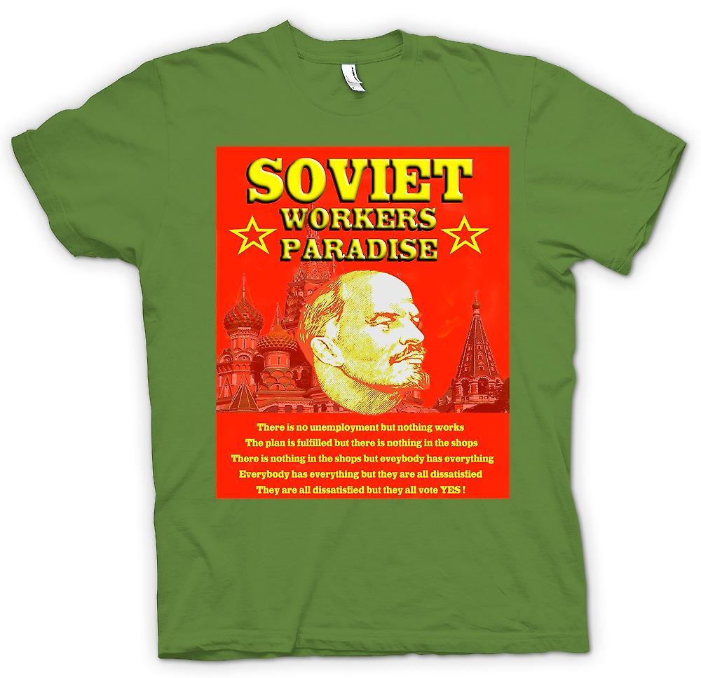 Mens t-shirt - Lenin - operai sovietici Paradise